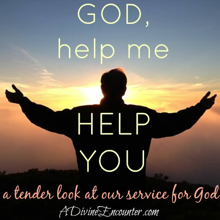 Have you ever wondered why God gives tasks to His children? He doesn't need our help. Here's a look into the business of helping God, from a mother's heart. (John 15:5) http://adivineencounter.com/help-me-help-you
