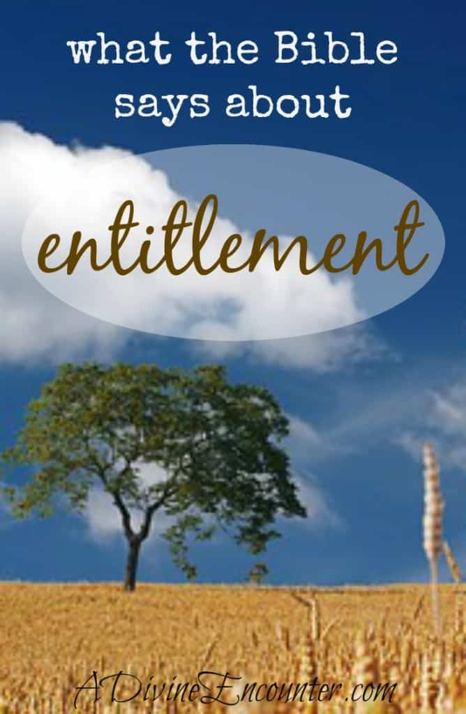 Excellent and reflective post considers what the Bible says about entitlement. What do we deserve, and what is grace? A must-read for Christians! (Philippians 2:3) http://adivineencounter.com/entitlement