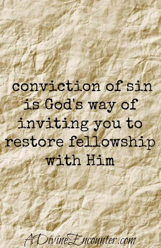 Eye-opening post considering the purpose behind conviction of sin. Rather than avoiding it, Christians should embrace it & return to relationship with God. (Psalm 51) http://adivineencounter.com/convicted