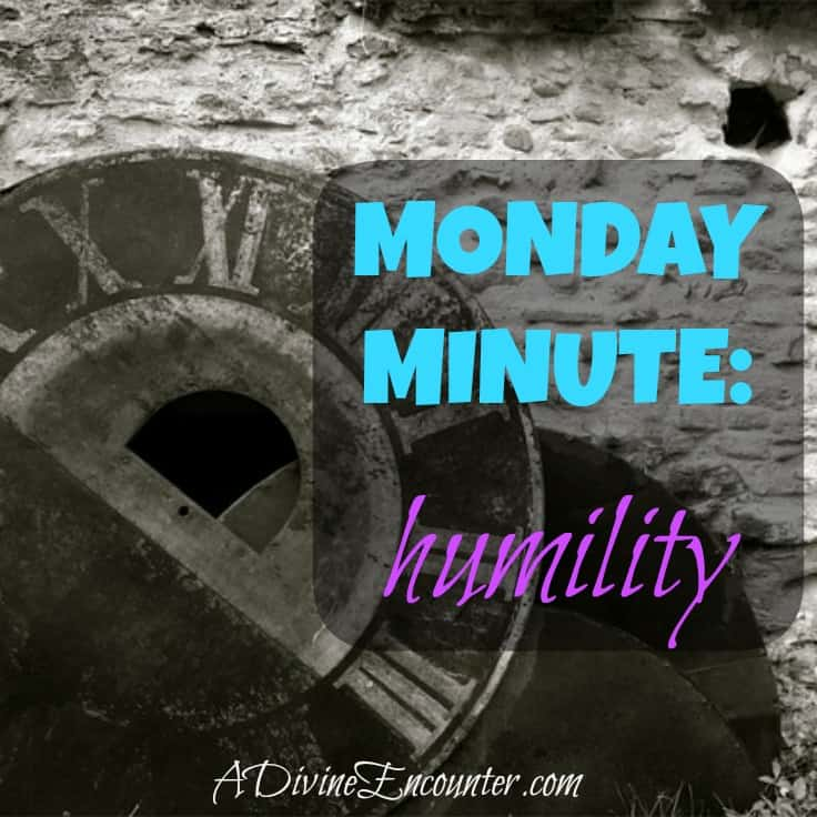 Brief but insightful post considering Jesus' example of humility. (Philippians 2:5-8) http://adivineencounter.com/monday-minute-humility