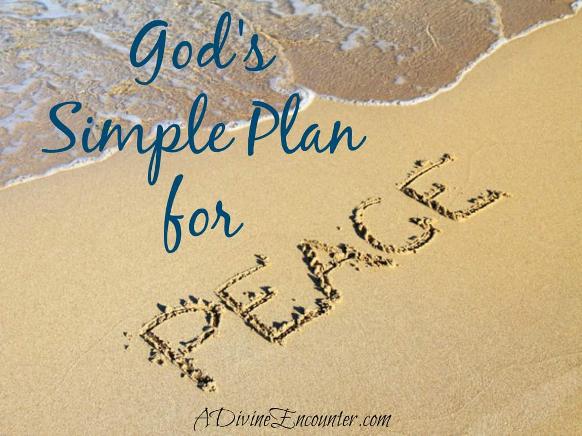 Insightful post exploring God's plan for peace and overcoming worry. (Philippians 4:6-7) http://adivineencounter.com/monday-minute-peace