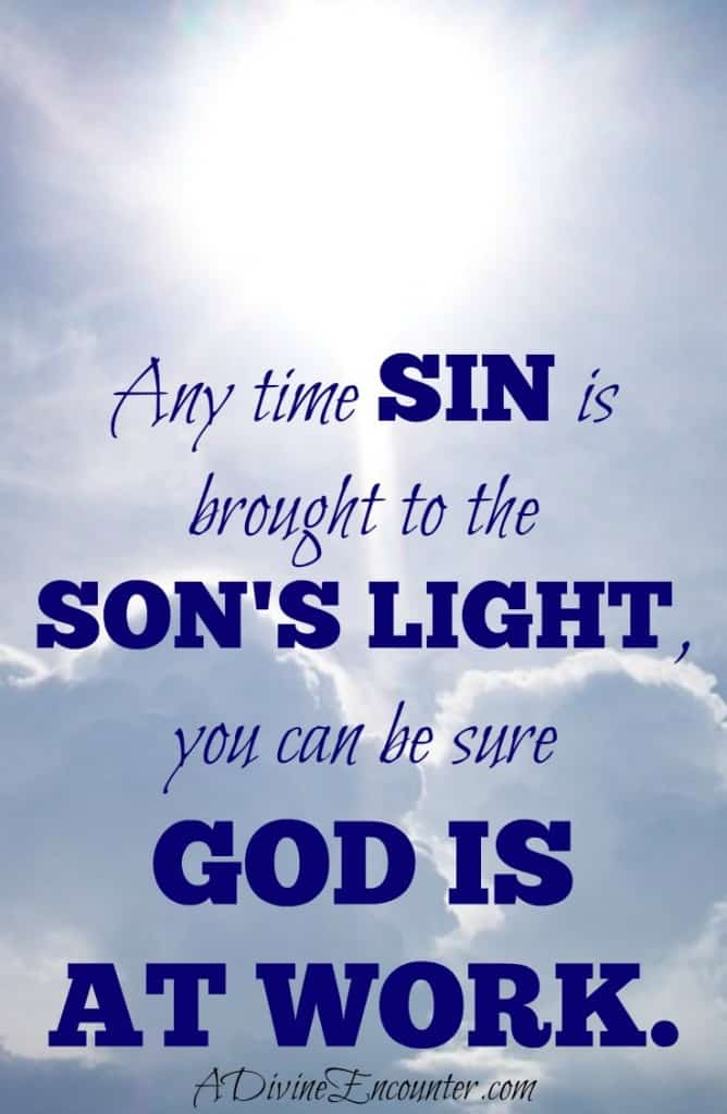 Heartfelt post offering hope for parents discovering sin. (John 3:20) https://adivineencounter.com/monday-minute-brought-to-light