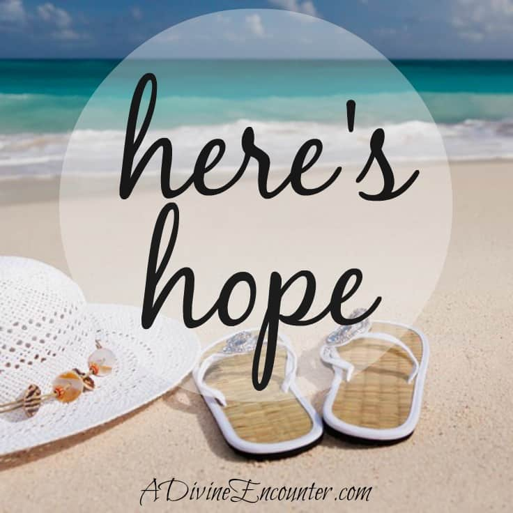 Is it possible to be joyful in any circumstance? Even in our darkest days? This inspiring post offers the key to finding hope in hard times. (Colossians 1:27) http://adivineencounter.com/monday-minute-hope