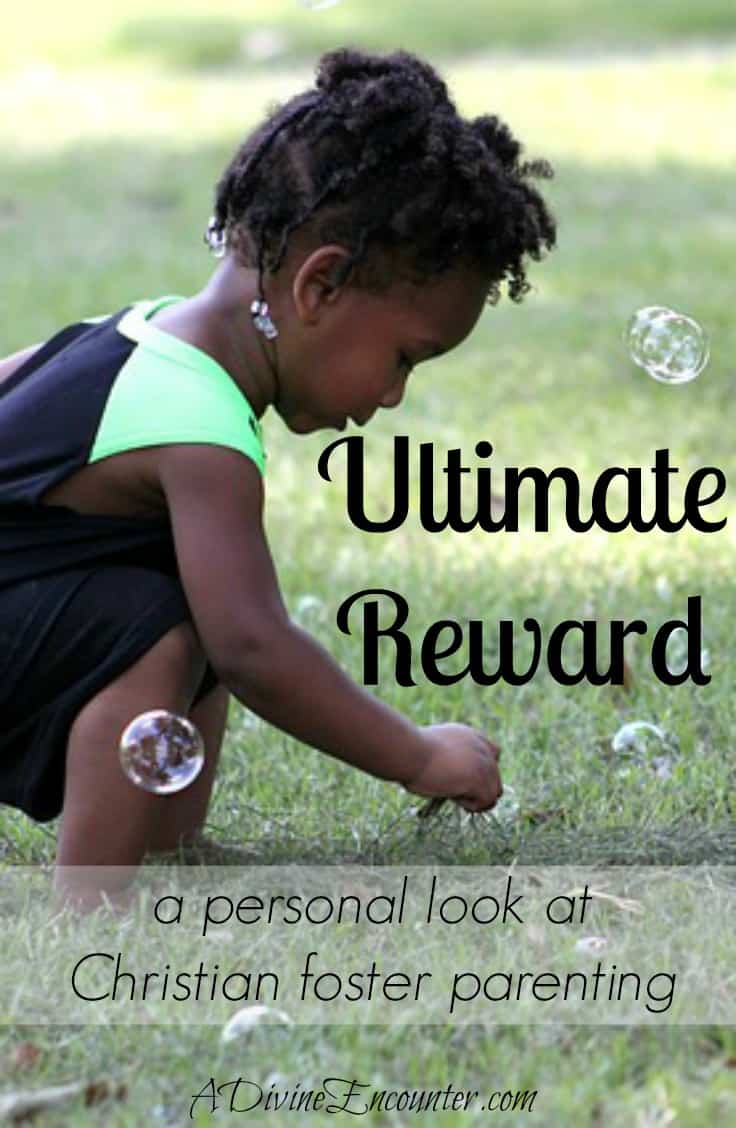What's the proper goal for Christian foster parenting? The answer may surprise you! As the author shares from her experience, it's not just about the kids. (Isaiah 26:8) http://adivineencounter.com/ultimate-reward
