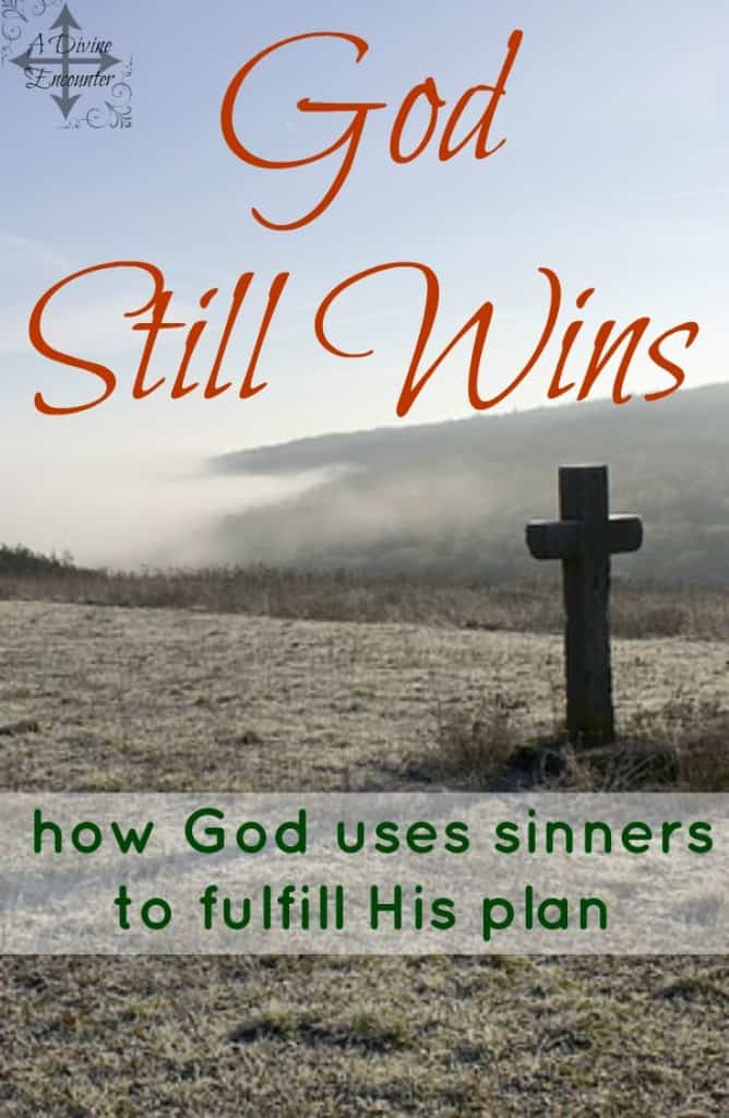 This refreshingly honest post reveals the author's weaknesses in her service for God and explores how God uses sinners to accomplish His purposes. (Job 26:14) http://adivineencounter.com/god-still-wins