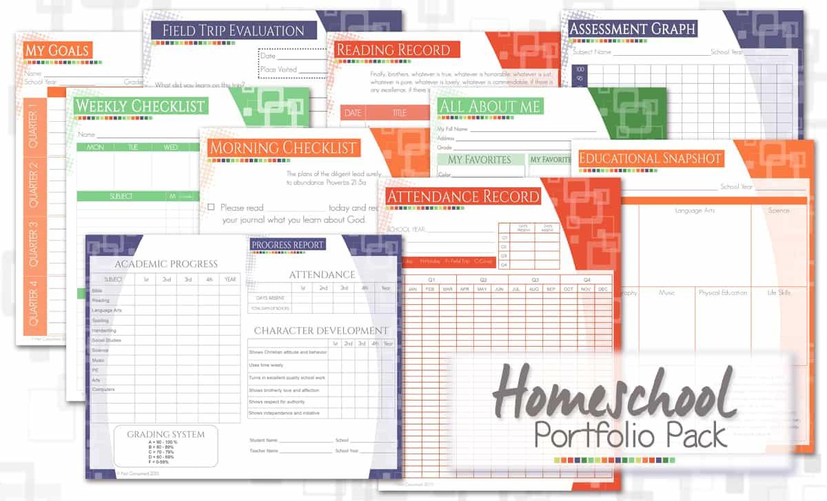 Homeschool portfolio pack