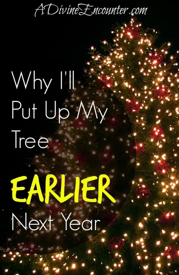 Why I'll Put Up My Christmas Tree Earlier Next Year