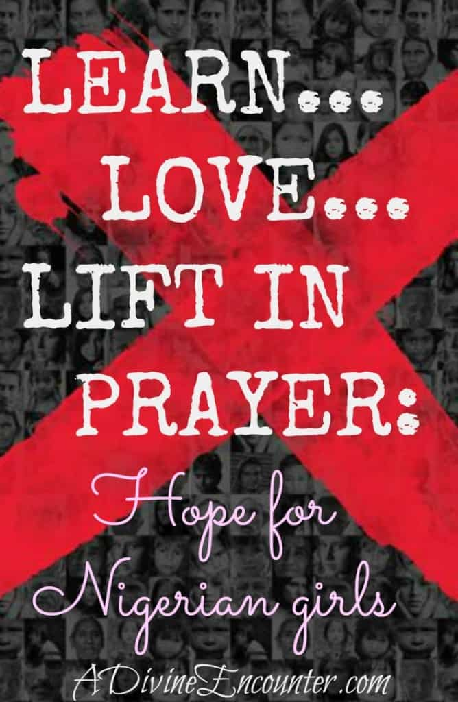Thoughtful and hopeful post considers God's work in the lives of people, particularly in the lives of kidnapped Nigerian girls.  http://adivineencounter.com/hope-assured-nigerian-girls