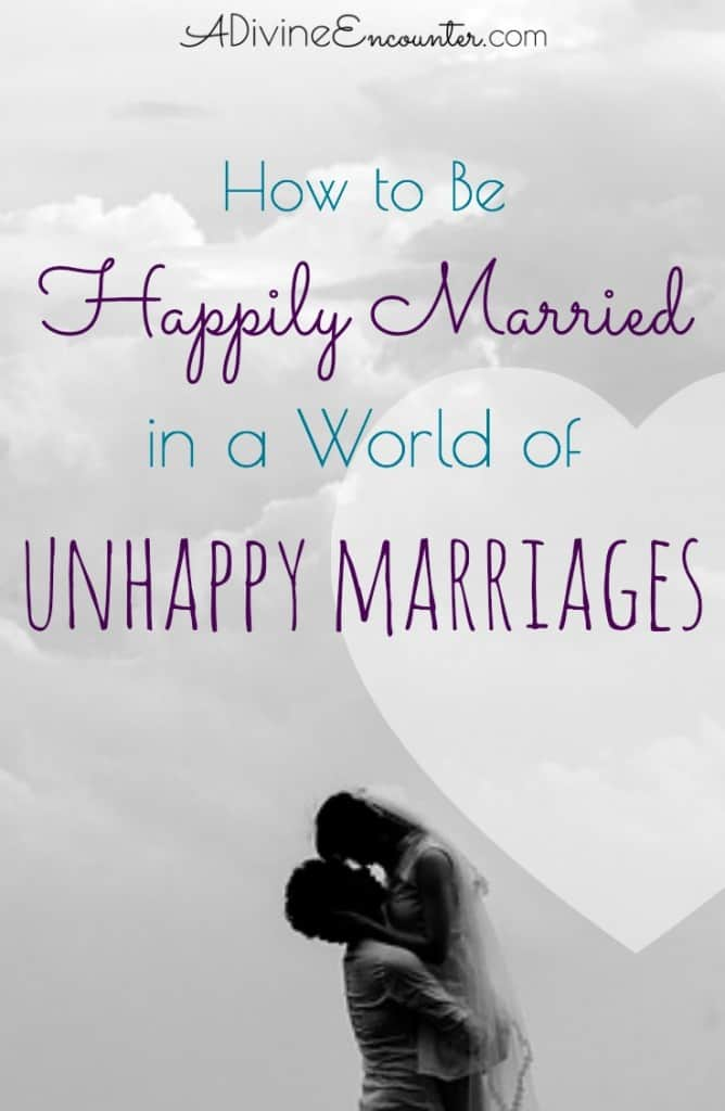 About half of marriages survive, but how many of those are happy? Insightful post for Christians shares how to be happily married.