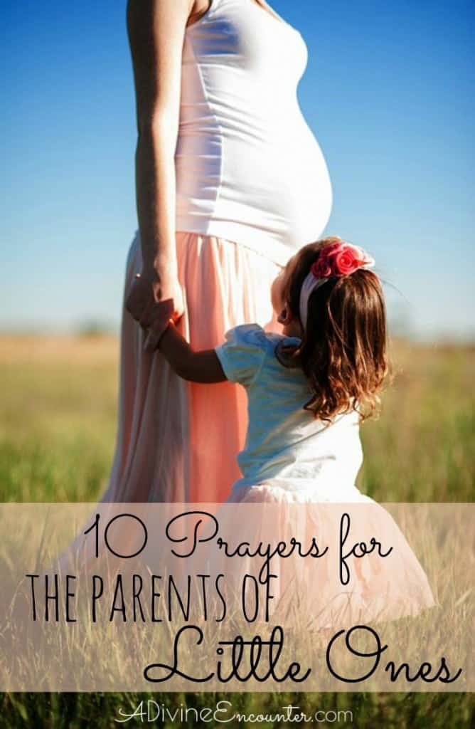 """Are you """"in the trenches"""" of parenting young children? Or perhaps you know a parent in this season of life. Here are 10 prayers for parents of little ones."""