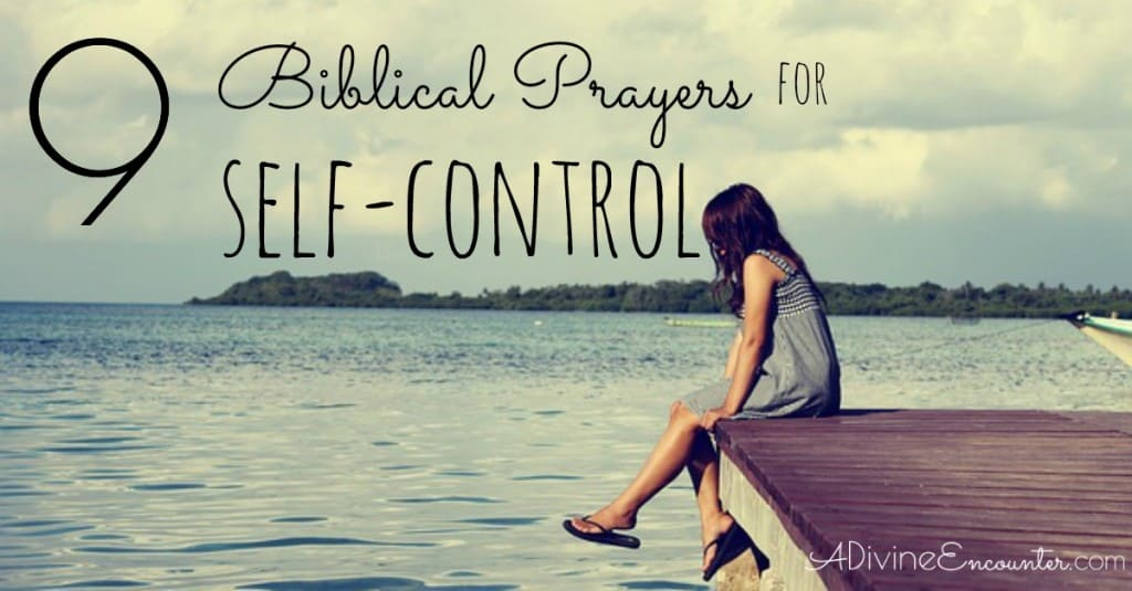 Prayers for Self-Control