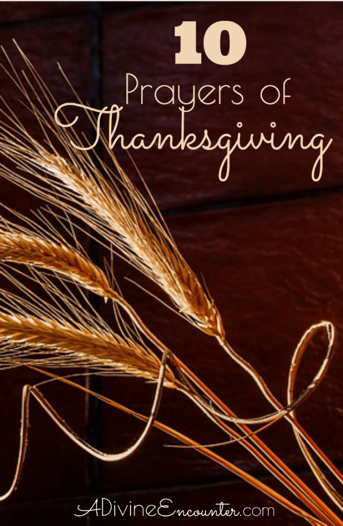 Thanksgiving shouldn't be restricted to a single day of the year, but a regular way of life. Here are 10 biblical prayers of Thanksgiving.