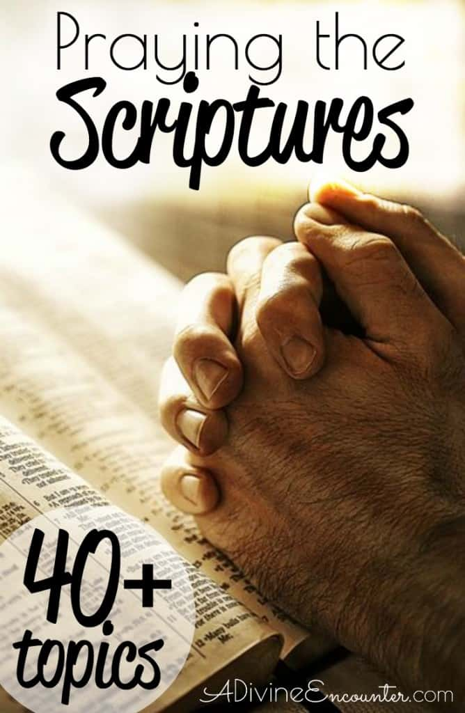 Praying the scriptures a divine encounter are you a christian who recognizes the power of praying the scriptures these 40 fandeluxe Document