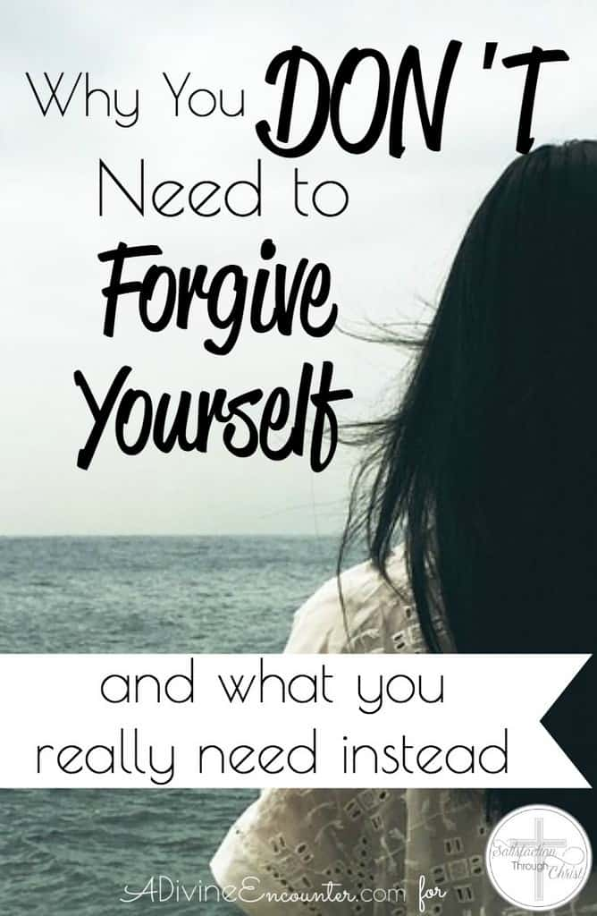 Do dark sins of your past keep you depressed, with the longing to be able to forgive yourself? Here's why you don't have to, & what you really need instead.